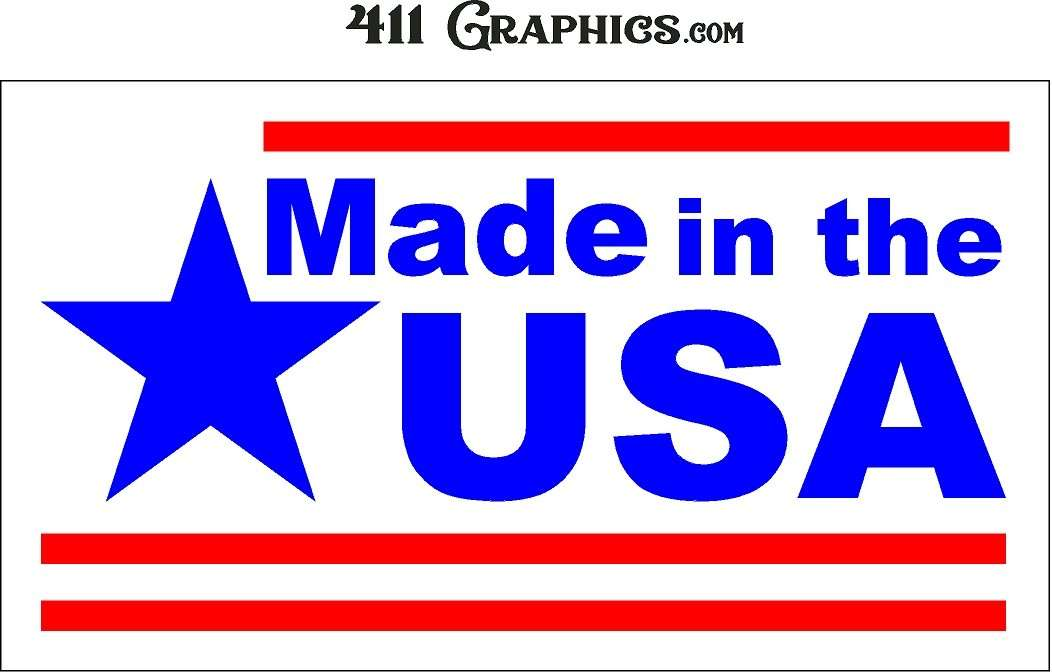 411 Graphics Made in the USA Copyright White Logo